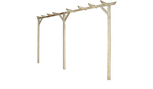 De madera jardín husillos al aire libre cenador pérgola Arch ...