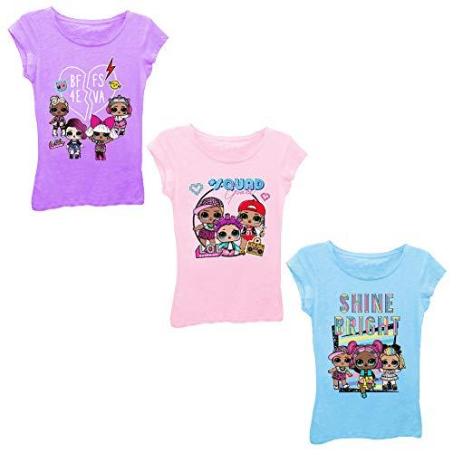 L.O.L. Surprise! Paquete de 3 camisetas de manga corta LOL Surprise para niños