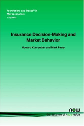Insurance Decision Making and Market Behavior (Foundations and Trends(r) in Microeconomics)