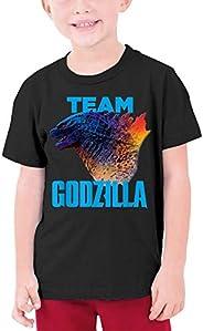 Dominic Art Team God-zi-lla Vs Kong One Will Fall Youth Short Sleeve T-Shirt Black