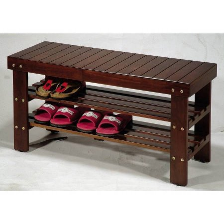 University Cherry Wood (Quality Solid Wood Shoe Bench, Multiple Colors, Lobby, Outdoors + Expert Guide (Cherry))
