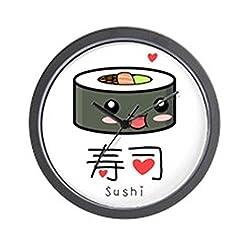 CafePress - Kawaii Sushi - Unique Decorative 10 Wall Clock