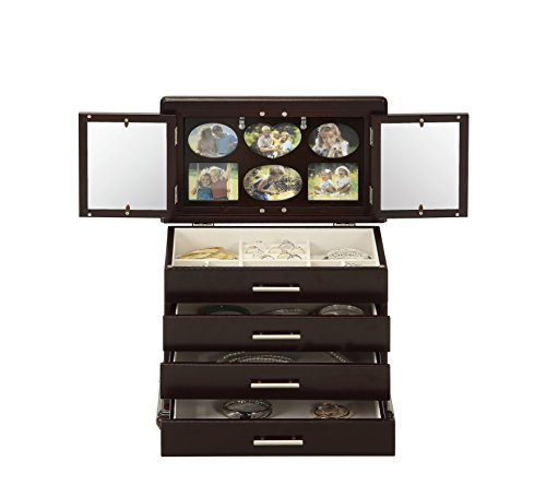 Memories Picture Photo Frame Jewelry Box with 2 Mirrors and Collage Panel by Abington Lane (Frame Mirror Box)