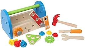 Amazon.com: Hape Fix It Kid's Wooden Tool Box and ...