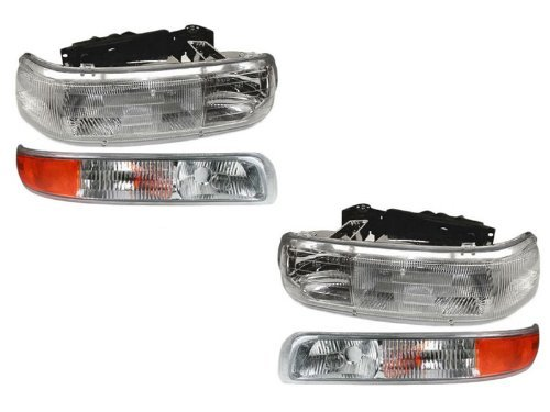 Chevy Silverado/Tahoe/Suburban 4-Piece Headlights Set w/Park Lights New - New Chevrolet Suburban Headlight