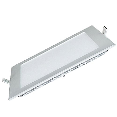 (Zehui LED Ultra-thin and Dimming Square Panel Lamp LED Light 6500K 15W(Hole Size:7-8CM))
