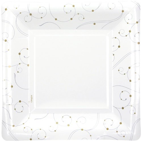 Hanna K. Signature Collection 12 Count Square Paper Plate,