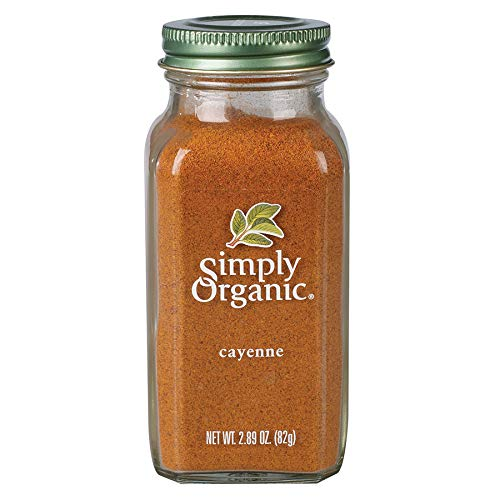 Simply Organic Cayenne Pepper, Certified Organic 2.89 oz Pack of 12 Capsicum annuum L.