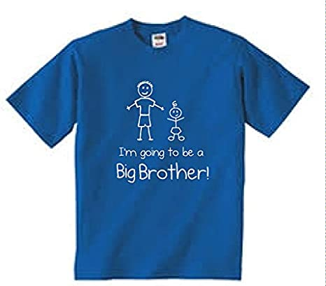 This What An Awesome Big Brother Little Brother Tshirt set blu bianco bambino bambino bambini disponibile nelle taglie da 0 a 6 mesi