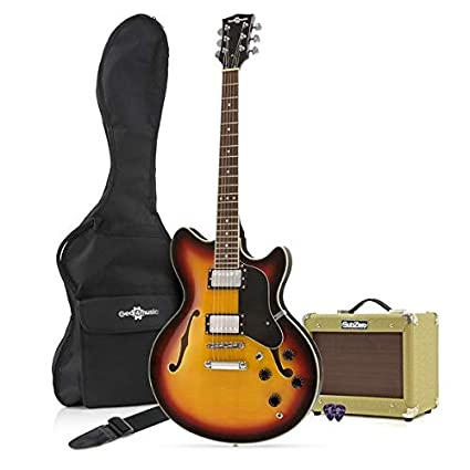 Guitarra Semiacústica San Francisco + Pack de Ampli SubZero V15G - Sunburst