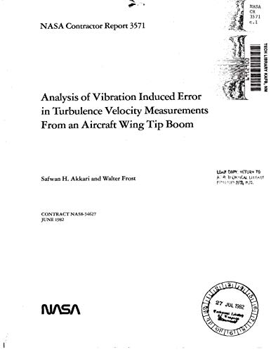 Analysis of vibration induced error in turbulence velocity measurements from an aircraft wing tip boom ()