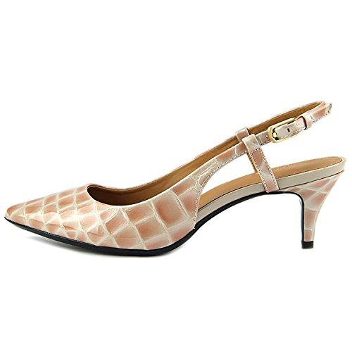 Calvin Klein Womens Patsi Pointed Toe Slingback Classic Pumps, Beige, Size 5.5