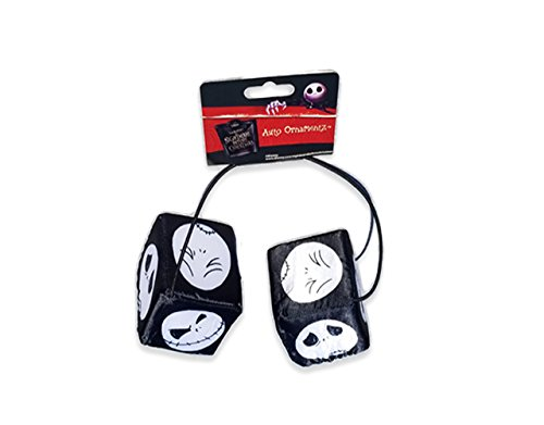 Nightmare Before Christmas Jack Skellington Dice Auto Ornamentz- 3