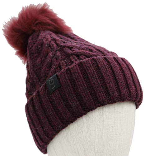 UGG Women's Cable Knit Pom Beanie Port One Size ()