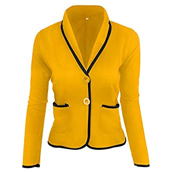 ODJOY-Fan Giaccone da Donna Giacca per Donna con Imbottitura in Pile Outwear Slim da Manica Lunga Blazer Ufficio Cappotto
