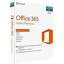 Office 365 - Home 12 Meses De Assinatura 5 Pessoas - Windows