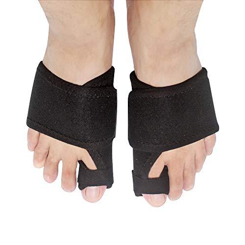 Bunion Corrector - Bunions Splint Pain Relief - Bunion Relief Protector - Hallux Valgus, Big Toe Joint, Toe Separators Spacers Straighteners with Foot Massage Ball (Black1) ...