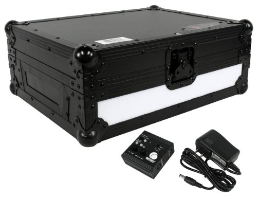 Tabletop Digital Music Controller (Odyssey FFX2RCDJBL Flight Fx2 Series Large format Tabletop CD/Digital Media Player Case with Front and Right Side LED Panel)