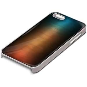 Abstracto 10091, Modern, Custom Design Blanco PC Ultradelgado Caso Duro Carcasa Funda Protección Tapa Hard Case Cover con Diseño Colorido para Apple iPhone 5 5S.
