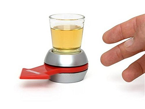 Why Choose URTop Creative Glass Drinking Game Fun Party Gifts Turntable Toys With Spinning Wheel KTV...