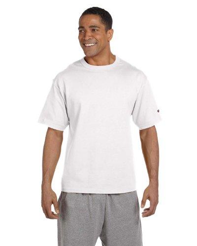 - Champion 7 oz Cotton Heritage Jersey T-Shirt in White - XXX-Large