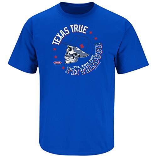 Texas Baseball Fans. Texas True 'Til The Day I'm Through. Heather Royal T-Shirt (Sm-5X) (Short Sleeve, 2XL)