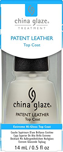 China Glaze Patent Leather Top Coat Nail Polish, 0.5 Ounce