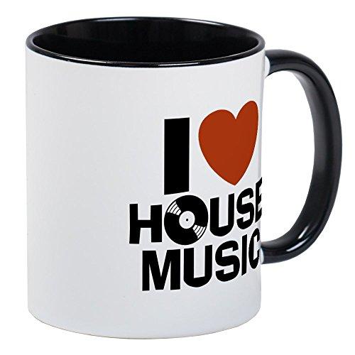 CafePress I Love House Music Mug Unique Coffee Mug, Coffee Cup - House Mug Music