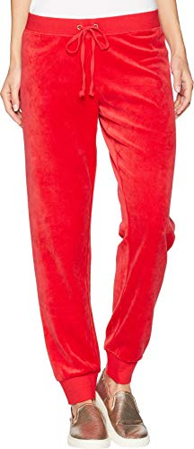 Juicy Couture Black Label Women's Velour Zuma Jogger Pant, Cordial red, M