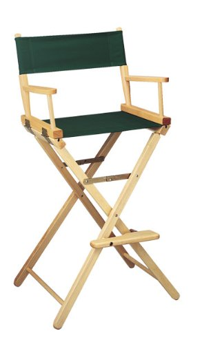 Gold Medal 30'' Bar Height Natural Frame Directors Chair by Everywhere Chair