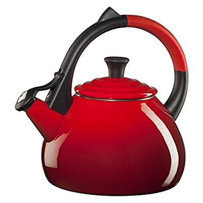 Le Creuset Oolong 1.9-qt. Enamel on Steel Whistling Teakettle - Cherry
