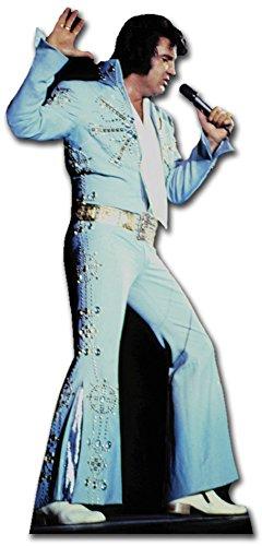 Star Cutouts - Stsc231 - Figurine Géante - Elvis Presley - Costume Blanc 155 Cm