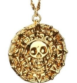 Movie Pirates of the Caribbean coin necklace Johnny