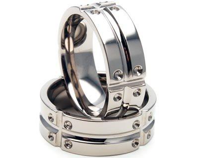 Matrix Titanium Ring (Titanium Ring, Carved MATRIX Jewelry, Wedding Bands, Men's Rings)