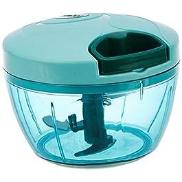 Amazon Brand – Solimo Plastic Compact Vegetable Chopper (350 ml, Green)