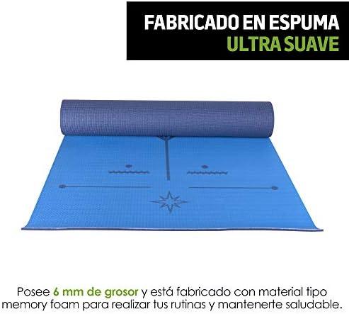Redlemon Tapete de Yoga, Yoga Mat de 6mm de Grosor, Diseño Bicolor Ultrasuave, Antideslizante, Resistente, Flexible, Fácil de Limpiar, Enrollable. Ideal Para Pilates, Fitness, Meditación y más 5