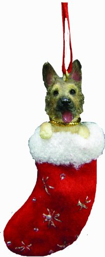 German Shepherd Christmas Stocking Ornament with