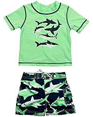 Carter's Baby Boys' Shark Rashguard Set