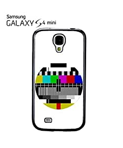 chen-shop design Test Pattern Vintage TV Mobile Cell Phone Case Samsung Galaxy S4 Mini Black high quality