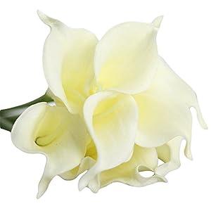 Angel3292 1Pc Artificial Calla Lily Silk Flower Bridal Bouquet Wedding Home Romantic Decor 3