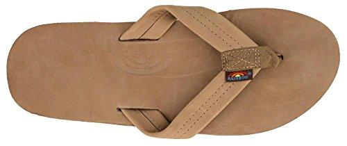Rainbow Single Layer Leather Sandal - Men's