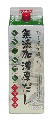 Additive-free Japanese Rich-dashi (Rich Soup stock) which a specialized Soup stock shop made, Mixed 6 raw materials(GL) 300ml