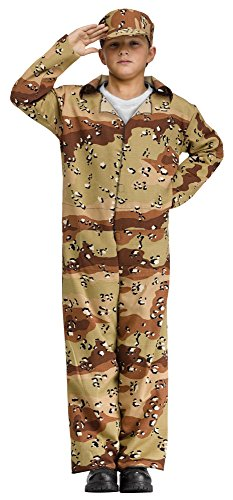Fun World Desert Camo Soldier Child Costume