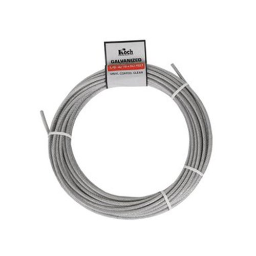 Koch A40124 1/8 by 50-Feet 7 by 7 Cable, Galvanized