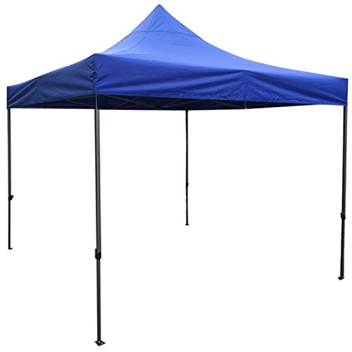 Marketing Folding Canopies - Pop up Canopy Tent K-Strong, UV Coated Waterproof Portable Folding 10x10 Outdoor Canopy Tent, Dark Blue