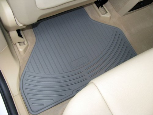 BMW All Weather Front Rubber Floor Mats 325 330 Coupe (2000-2006) - Beige by BMW (Image #4)