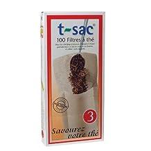 HIC BRANDS T-Sac Tea Filter Bag, Set of 100, White