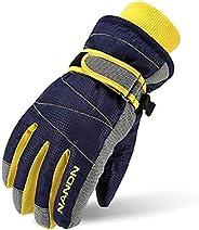 TRIWONDER Kids Winter Ski Gloves Windproof Warm Snowboard Gloves Outdoor Girls Boys Snow Skiing Gloves