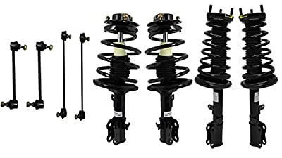 Detroit Axle - 8pc Front & Rear Struts w/Coil Springs and Sway Bar Links for 1997-2003 Toyota Avalon 3.0L- [1999-2003 Toyota Solara 3.0L] - 1997-2001 Toyota Camry 3.0L - [1997-2001 Lexus ES300 3.0L]