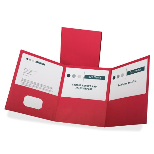 Oxford Paper Tri-Fold Pocket Folders, Letter Size, Red, 20 Per Box  (59811) (Red Tri Fold)